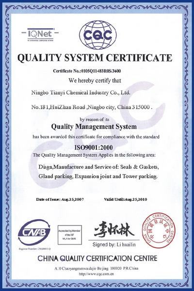 TCI certificate